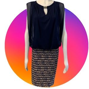 Perceptions Dress with Sheer over top